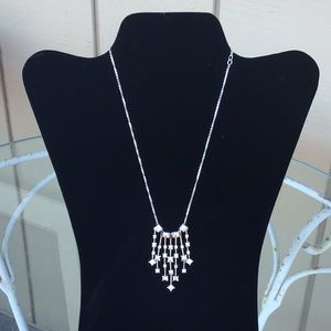 Swarovski silver and crystal necklace with box